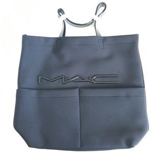 MAC Makeup Black Neoprene Tote Bag RARE